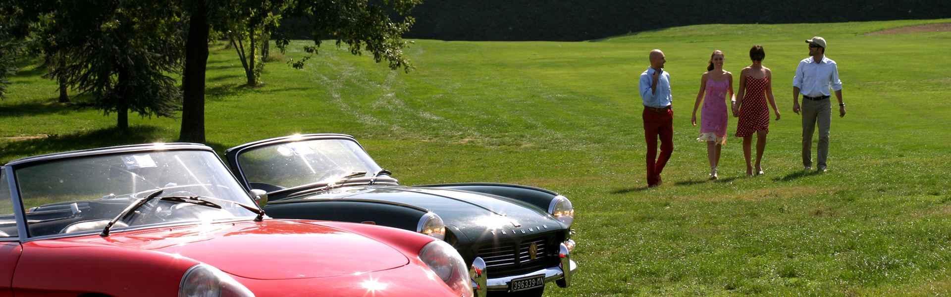 Slow drive classic cars